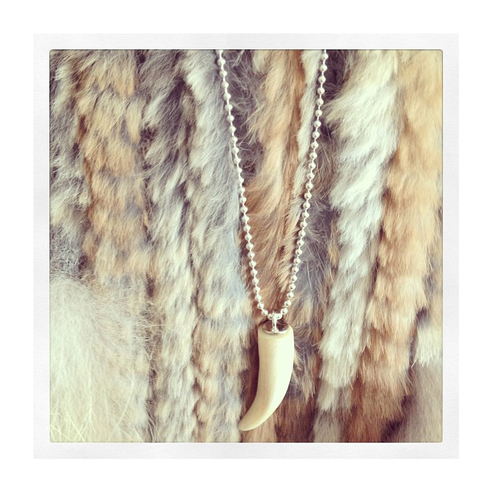Little whale tooth necklace, icelandic jewellery