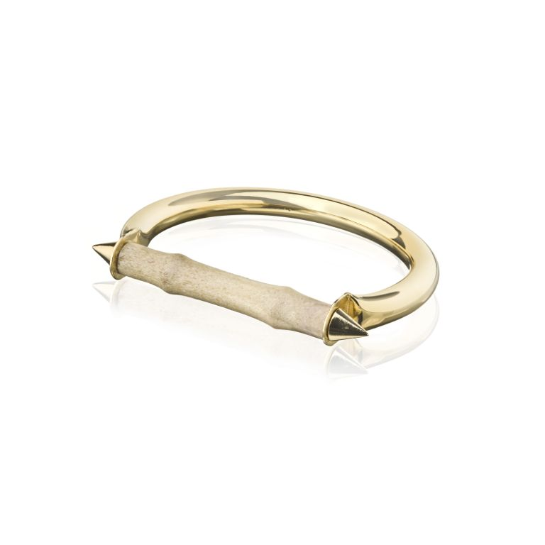 Gold reindeer bracelet, icelandic jewellery