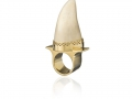 Large Whale tooth ring, icelandic jewellery