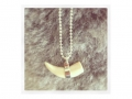 Horizon Whale Tooth necklace, icelandic jewellery