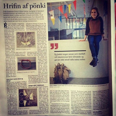 icelandic jewellery, fiona cribben, Frettabladid Newspaper